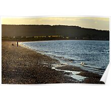 Man and dog at Channory Point Poster