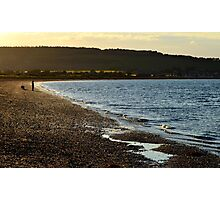 Man and dog at Channory Point Photographic Print