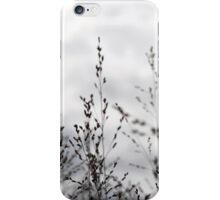 Black & white grass iPhone Case/Skin