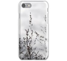 Black & white grass iPhone Case/Skin