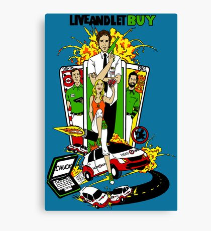 Live and Let Buy Canvas Print