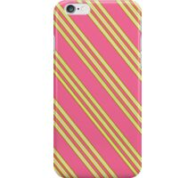 Salmon Pink & Yellow Stripes iPhone Case/Skin