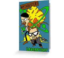 Mythbuster's Lab Greeting Card