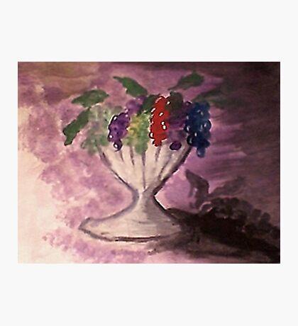 Grapes, watercolor Photographic Print