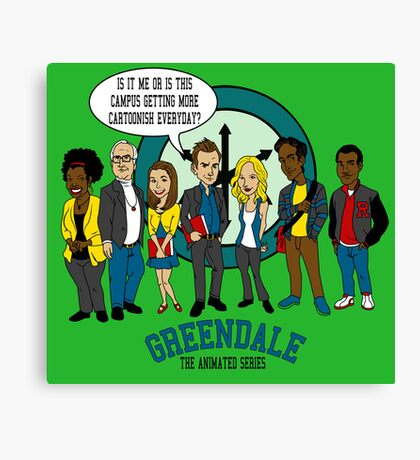 Greendale the Animated Series Canvas Print