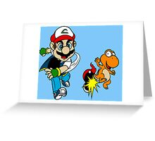 Super PokeBros Greeting Card