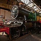 Locomotive 4144 in engine shed. by Simon Lawrence