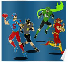 Superhero Football Poster
