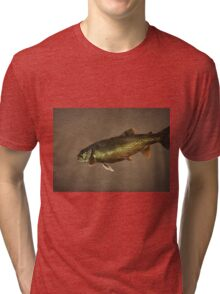 Trout on Brown Tri-blend T-Shirt