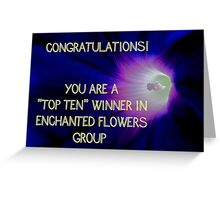 Banner - Enchanted Flowers Top Ten Winner Greeting Card