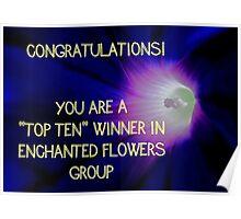 Banner - Enchanted Flowers Top Ten Winner Poster