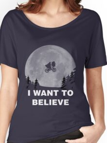 I Want To Believe In E.T. Women's Relaxed Fit T-Shirt