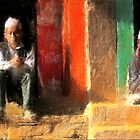 Bhaktapur Shopkeepers, Nepal by V1mage