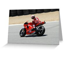 Casey Stoner at laguna seca 2010 Greeting Card