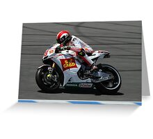Marco Simoncelli at laguna seca 2010 Greeting Card