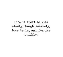 """""""Life is Short"""" inspirational tumblr quote merch! by youtubemugs"""