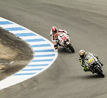 Marco Simoncelli and Valentino Rossi at laguna seca 2010 by corsefoto