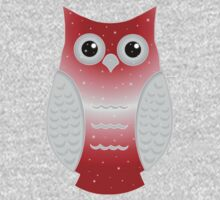 Red Snow Owl One Piece - Long Sleeve
