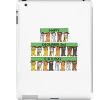 Cats celebrating December 2nd Birthday iPad Case/Skin