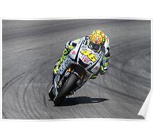 Valentino Rossi at laguna seca 2010 Poster