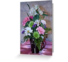 Morning Fresh Coffee and Flowers Greeting Card