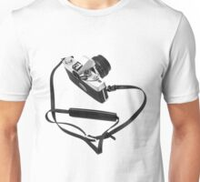 Digital camera isolated on white background DSLR Unisex T-Shirt
