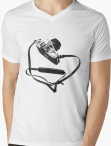 Digital camera isolated on white background DSLR Mens V-Neck T-Shirt