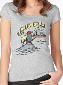 Land Ho! Women's Fitted Scoop T-Shirt