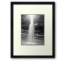 """Psalm 36:9""  by Carter L. Shepard Framed Print"