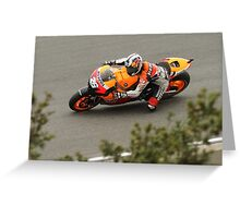 Dani Pedrosa at laguna seca 2010 Greeting Card