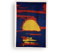 Primary Sunset Canvas Print