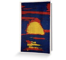 Primary Sunset Greeting Card