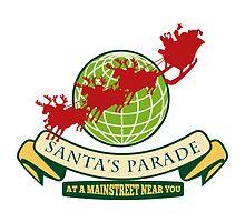 Santa Claus Christmas Globe Reindeer by patrimonio