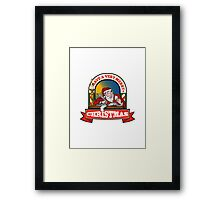 Santa Claus Father Christmas Writing Letter Framed Print