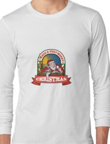 Santa Claus Father Christmas Writing Letter Long Sleeve T-Shirt