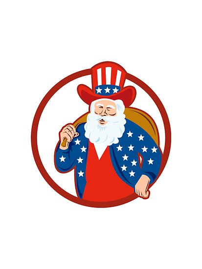 American Father Christmas Santa Claus by patrimonio