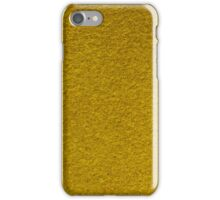 Yellow leather background  iPhone Case/Skin
