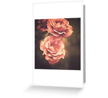 Pink Vintage Roses Greeting Card