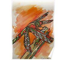 Dragonfly Burst Poster