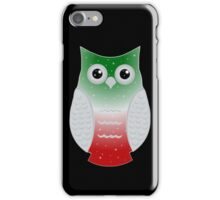 Red and Green Snow Owl iPhone Case/Skin
