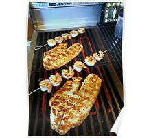 Grilled Tilapia and Shrimp Kabob's Poster