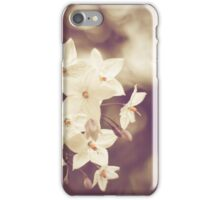 Vintage White Flowers iPhone Case/Skin