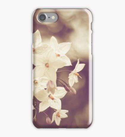 Vintage White Flowers iPhone Case/Skin