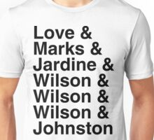 Beach Boys Lineup Unisex T-Shirt