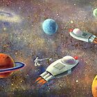 1960's Outer Space Adventure by Randy  Burns
