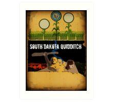 South Dakota Quidditch Art Print