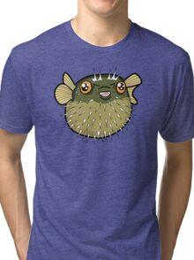 Cute Puffer Fish! Tri-blend T-Shirt