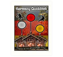 Germany Quidditch Redesigned  Art Print