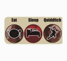 Eat Sleep Quidditch T-Shirt & Sticker Design Kids Clothes