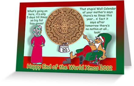 Happy End of the World Xmas 2012 - Santa's dilemma 04  by TommyRocket